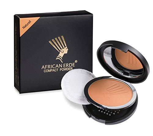 """Bronzing Puder - African Erde Compact Powder""""Naturell"""" - ohne Glitter, Mineralpuder, Spiegel Case,"""