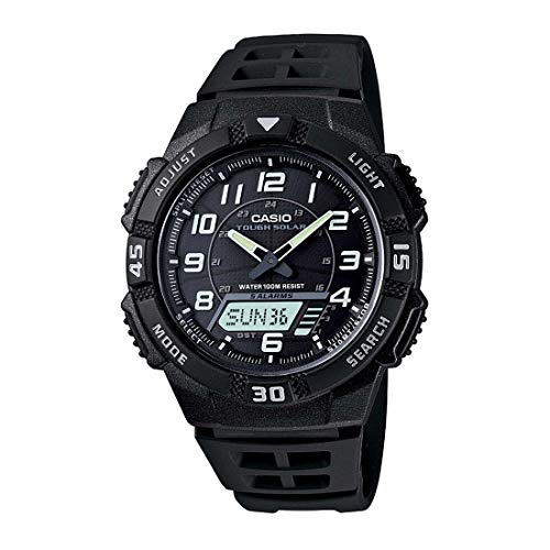 Casio AQS800W-1BV Watch For Men Self-Charging Tough Solar Analog Digital Solar Sports Casual
