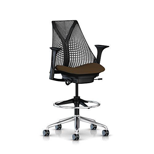 Herman Miller Sayl Task Stool: Fixed Arms - Fixed Seat Depth