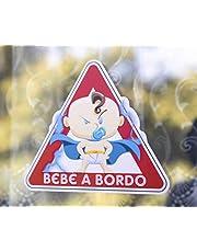 Adesivo in vinile Super Bebe a Bordo, Super Baby on Board