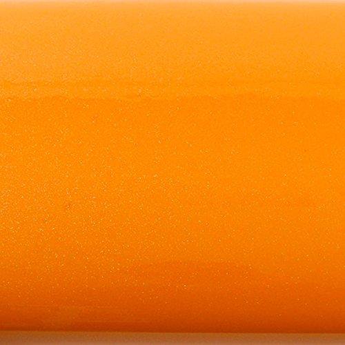 (ROSEROSA Peel and Stick PVC High Glossy Solid Pearl Instant Decorative Self-Adhesive Film Countertop Backsplash Orange (PGS5500-18 : 1.96 Feet X 8.20 Feet))