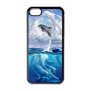James-Bagg Phone case Love dolphins,cute dolphin pattern For ipod touch 5 ipod touch 5 FHYY430714