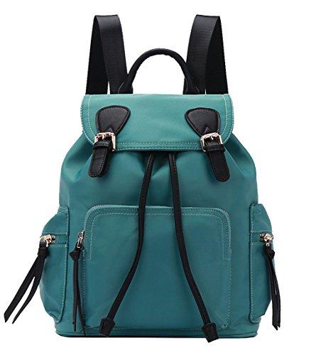 for Black 2 Teenage dark Backpack Theft Shoulder Green Straps Girls Womens Anti Drawstring vzqUYv