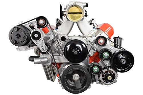 ICT Billet LS Camaro OEM Fox Body A/C Compressor Alternator and Power Steering Bracket Kit LS Swap Mustang 51795-2 (Ls Motor Mounts For Fox Body Mustang)