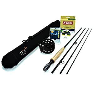 """TFO Professional II 5wt, 9'0"""" Fly Rod Outfit (5wt, 9'0"""", 4pc) w/Ross Flyrise Reel"""