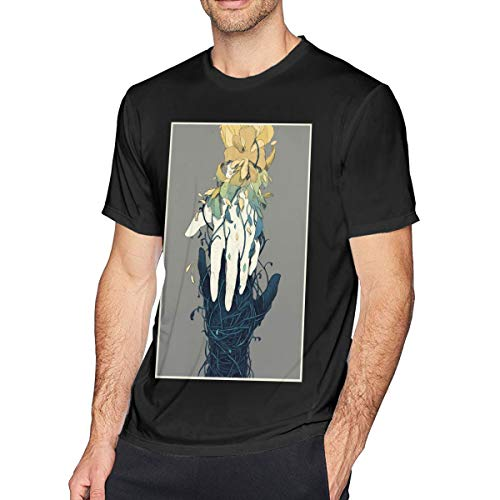 NCNET Men's Big Tall T-Shirt Printed Contrast Life and Death Crewneck Athletic Short Sleeve for Youth Adult S-6XL Black]()