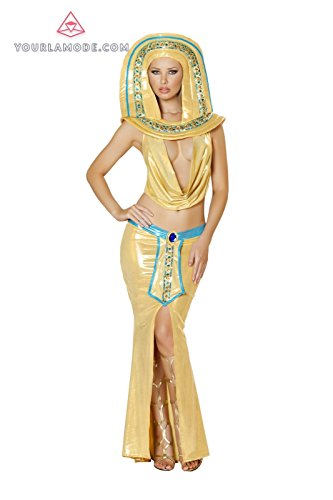 [Roma Costume 4PC Cleopatra Cutie Costume Bundle with Pink Shorts] (Cleopatra Cutie Adult Costumes)