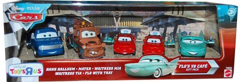 (Disney / Pixar CARS Exclusive 155 Die Cast 5Pack Flos V8 Cafe Hank Hallsum, Waitress Mia Tia, Mater Flo wth Tray)