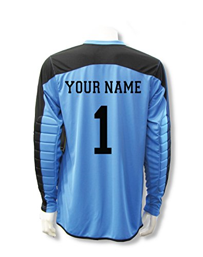 0829fde11bd Code Four Athletics Diadora Enzo Goalkeeper Jersey Personalized with Your  Name and Number - Columbia Blue - Size Youth Large