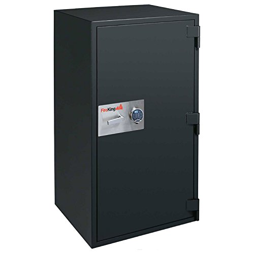Fireking Fire & Burglary Safe, Combination lock, 60.31'' H x 34.06'' W x 29.13'' D/17.8 cu. ft., Graphite by FireKing