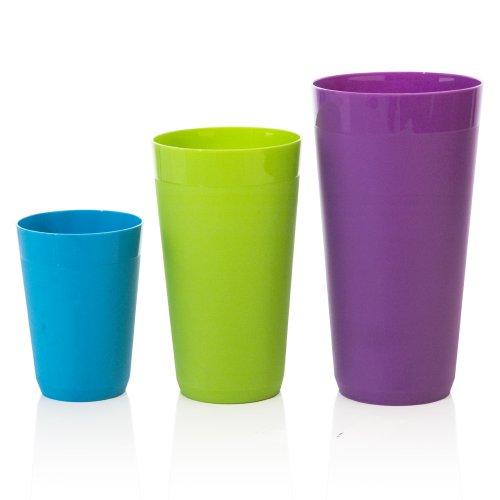 Набор стаканов 12pc Newport Unbreakable Plastic