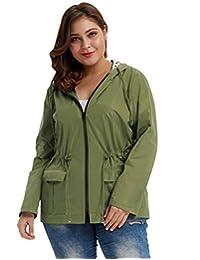 Hanna Nikole Women's Waterproof Lightweight Rain Jacket Active Outdoor Hooded Raincoat