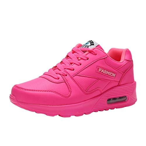 Primavera Rosa Verano Libre Gym Caliente Cordones con Zapatos Plataforma para Running y QinMM Zapatillas Aire otoño Mujer Calzado Deportes pwABwZqU