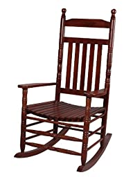Gift Mark Deluxe Adult Rocking Extra Tall Back Chair, Cherry