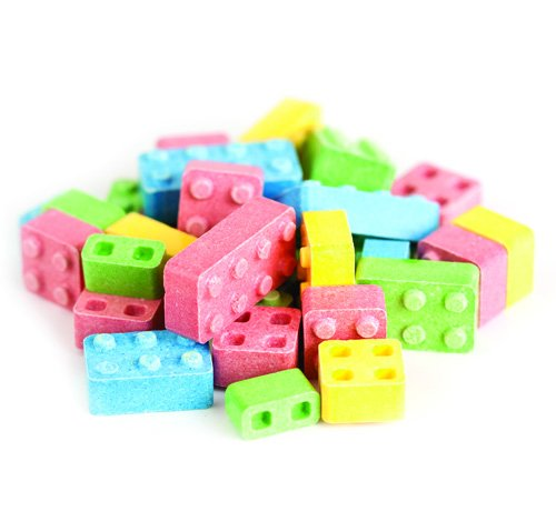Candy Blox blocks bricks building candy 5 pounds candy building blocks (5lb Brick)