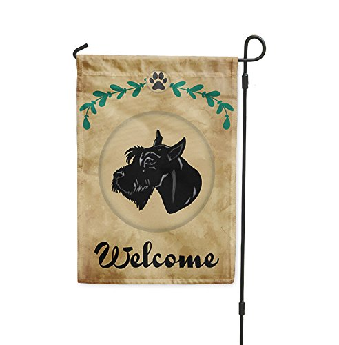 Welcome GIANT SCHNAUZER DOG Yard Patio House Banner Garden F