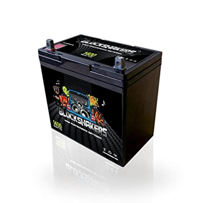 Black 12V 55AH 1400 Watts NB/T5 High Current Battery replaces Kinetik HC1200