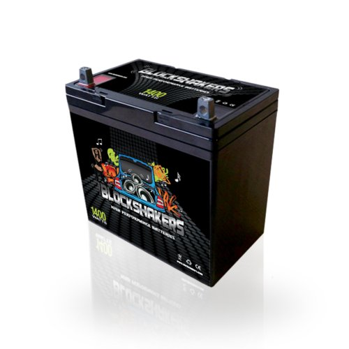 Black 12V 55AH 1400 Watts NB/T5 Car Audio Battery replaces XS D1200 S1200 (Best Car Stereo Battery)