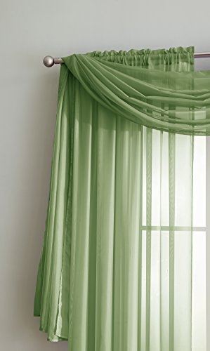 Amazing Sheer Window Scarf Fabric Sheer Voile curtain for Window Treatment - Add to Window Curtains for Enhanced Effect (56