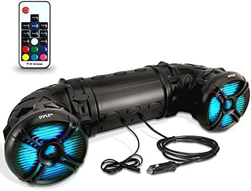 "Pyle Marine ATV Powered Audio system – 4.0 Wi-fi Bluetooth, 800 Watt, Coloration Altering LED Lights, IP44 Waterproof, 6.5"" Twin Audio Sound System for UTV, Golf Carts, Jetski and Snowmobile – PLATV65BT"