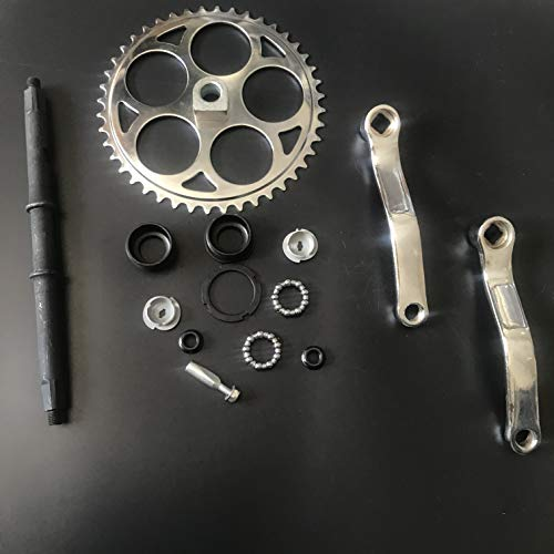 dolphin1986 44T Sprocket Wide Crank Assembly Kit -3pcs, for 4-Stroke Motor,Gas Motorized Bicycle