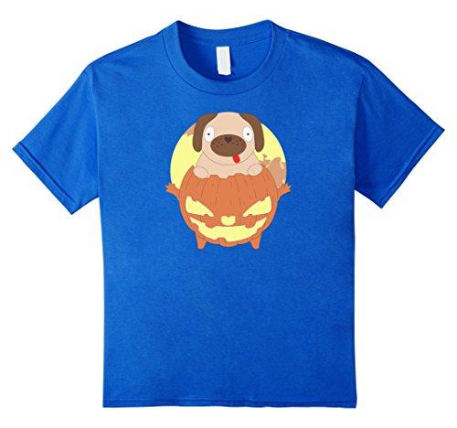 Costumes Pugs In Pumpkin (Kids Halloween Costume T Shirt Pug In Pumpkin Kids Men Women Tee 6 Royal)