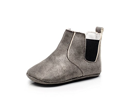 24 Baby Footwear Boots - Isbasic Baby Girls Boys Ankle Boots Infant Moccasin Soft Sole Chelsea Boots Shoes (18-24 Months, Grey)