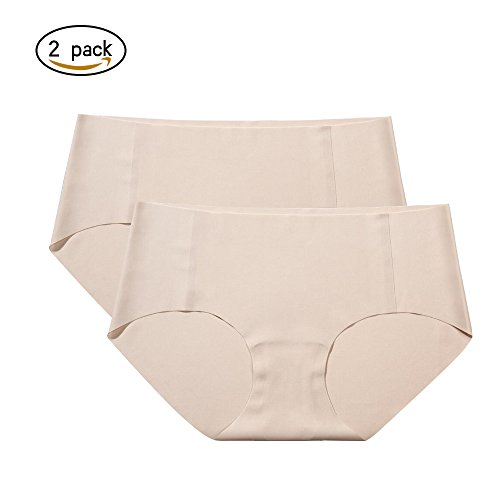 ADLU Women's Seamless Underwear Soft Stretch Invisible Panty Full Back Coverage Briefs Panties 2 (Line Coverage)