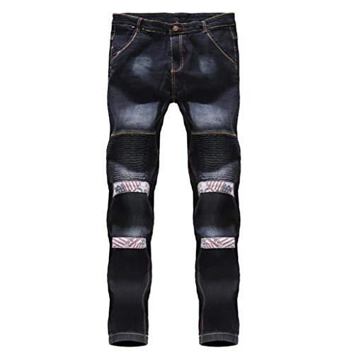 Pantalones R Cortos Tamaños Bolsillo Casual Tether De Algodón Estiramiento Vaqueros Cómodos Verano Vaqueros Hombres Negro De Ropa Pantalones Pantalones Hombres La Manera Hombres Lavados Plegable Pantalones r5Hrpqf