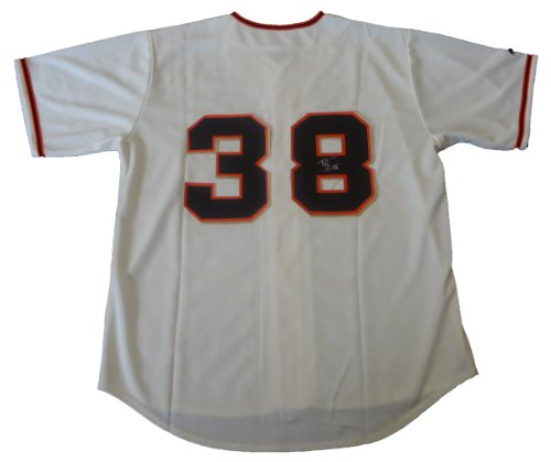 Brian Wilson Autographed San Francisco Giants Cream Jersey W/PROOF, Picture of Brian Signing For Us, San Francisco Giants, World Series Champs, Fear The Beard
