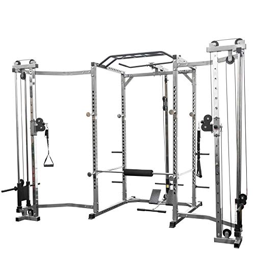 - Valor Fitness BD-33BCCL Power Rack w/LAT Pull and Cable Crossover Attachment