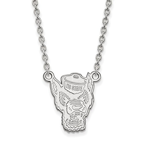 925 Sterling Silver Officially Licensed North Carolina State University College Large Pendant with Necklace (18 in x 1.95 mm) by Unknown