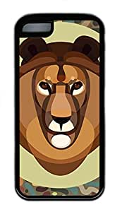 iPhone 5c Cases - Cheap And Beautiful Summer TPU Black Cases Personalized Design The Tiger Head