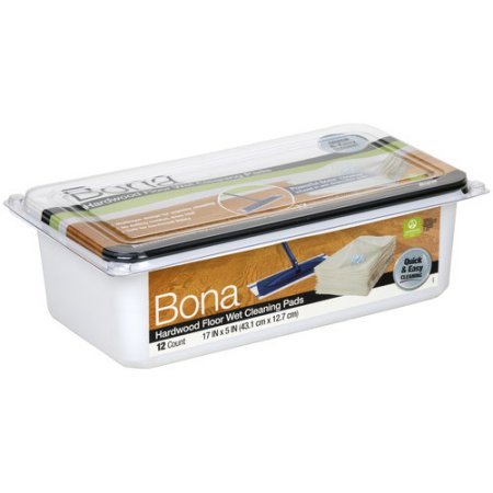 Pack of 4 - Bona Hardwood Floor Wet Cleaning Pads, 12 count