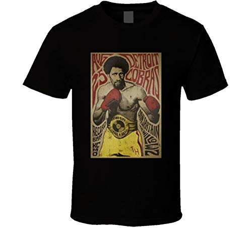 Thomas Hearns Boxer The Detroit Cobras Garage Band Mashup Poster Distressed Fan T Shirt L Black