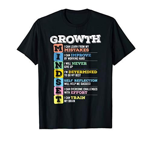 Growth Mindset T-Shirt Classroom Brain Motivation (Dark)