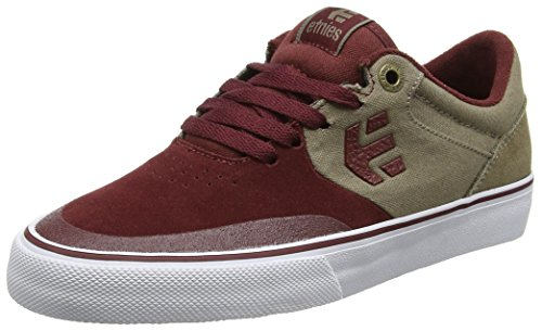 Etnies Herren Marana VULC Skateboardschuhe Rot (Burgundy/Brown)