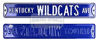 Kentucky Wildcats Avenue Officially Licensed Authentic Steel 36x6 Blue & White NCAA Street Sign