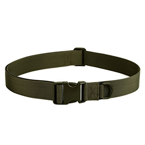 Protector Plus Tactical Belt Heavy Duty Waist Belt Unisex Adjustable Military Style Woodland Nylon Belts with Quick Release Buckle 1.57