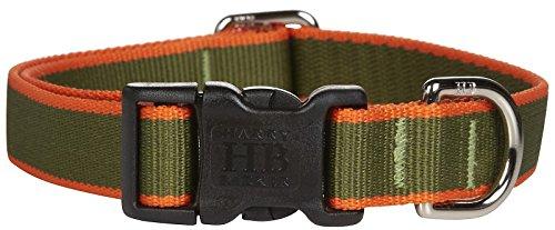 Harry Barker Chelsea Collar - Green & Orange - Small - 9-16 inch