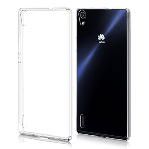 kwmobile Crystal Case for Huawei Ascend P7 - Soft Flexible TPU Silicone Protective Cover - Transparent (Huawei Ascend P7 Smartphone)