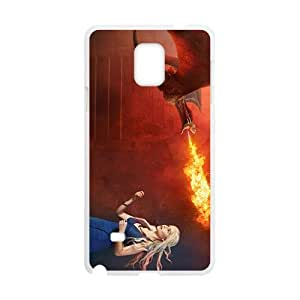 Flame of dinosaur and lovely girl Cell Phone Case for Samsung Galaxy Note4