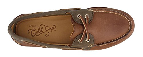 Boat Men's Olive Shoe Brown Sider Gold Original Authentic Top Sperry 7YqzEE