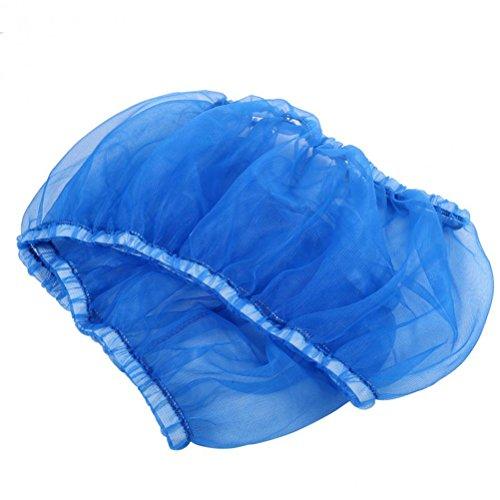 (UEETEK Bird Cage Skirt Mesh Bird Seed Catcher Net Cage Cover Size L (Blue))