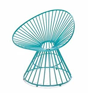 SKB Family Teal Blue Patio Lounge Chair outdoor dramatically lounge iron irresistible fantastic patio accent