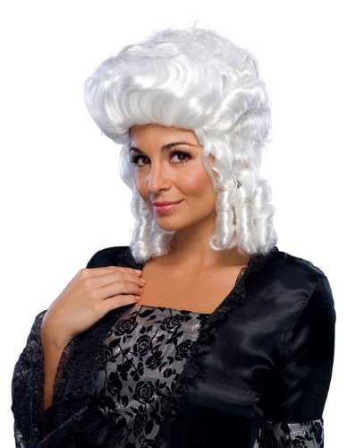 Ladies Colonial Wig (Rubie's Costume Colonial Lady Wig, White, One Size)