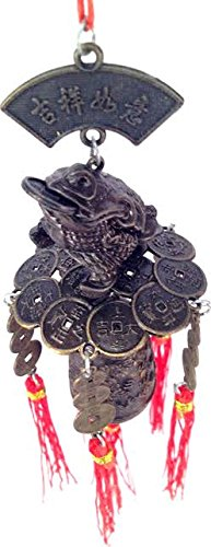 Cheap Lucky Money Frog Feng Shui Wind Chime
