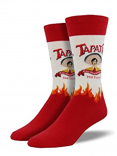 "Socksmith Mens Novelty Crew Socks ""Tapatio"" - White"