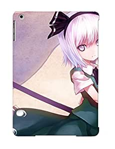 Ipad Air Case Slim [ultra Fit] Video Games Touhou Dress Flowers Katana Weapons Ghosts Konpaku Youmu Myon Anim Protective Case Cover(best Gift Choice For Friends)