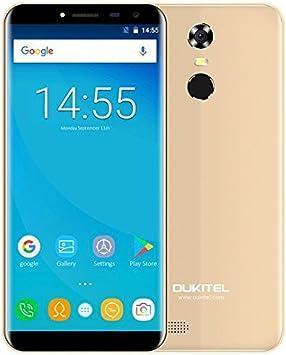 OUKITEL C8-5,5 Pulgadas (18: 9 relación visión Completa) Android 7.0 3G Smartphone, 3000mAh batería, 1,3 GHz Quad Core 2 GB de RAM de 16 GB de ROM, cámara de 5MP + 13MP, Huella Digital: Amazon.es: Electrónica